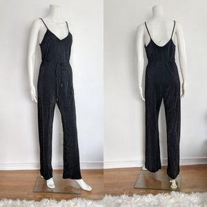 🎉HP🎉 n: PHILANTHROPY Metallic Black Jumpsuit